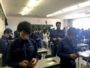 消防団向けに説明会を開いた(8月上旬、神戸市)