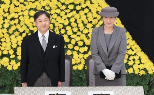 天皇、皇后両陛下が即位後初めて全国戦没者追悼式に出席