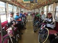 弘南鉄道のサイクルトレイン