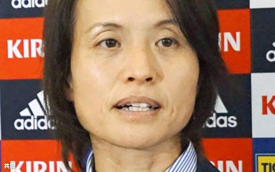 サッカー女子日本代表の高倉麻子監督=共同