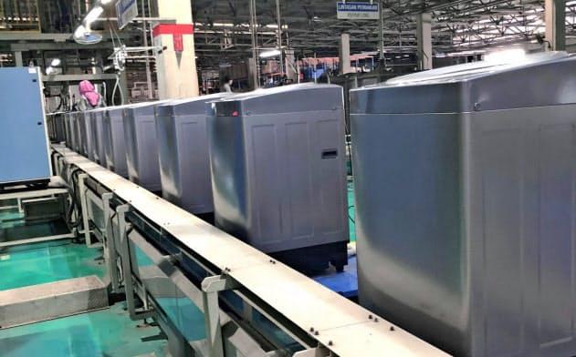 シャープはインドネシアで洗濯機の製造ラインを増設した