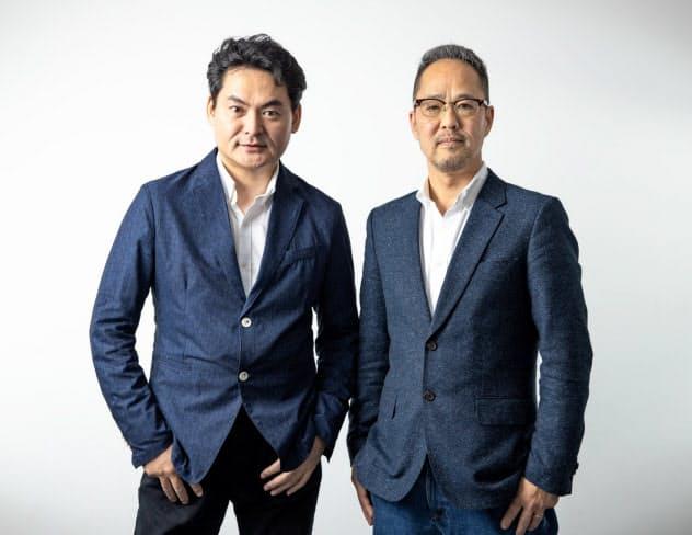 AT PARTNERSを共同創業した秋元信行氏(右)と土佐林淳氏