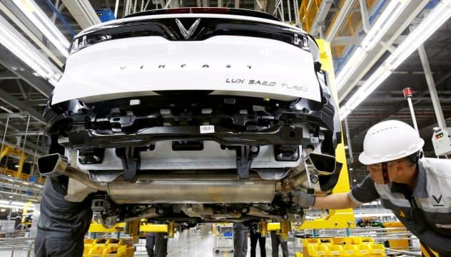 ビングループは今年6月に自動車生産を始めた(北部、ハイフォン市)=ロイター
