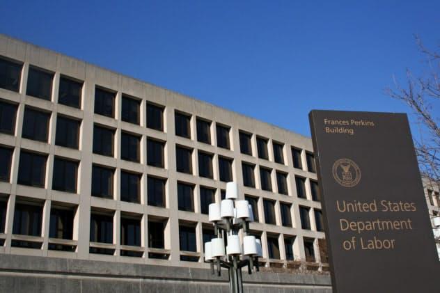ワシントンの米労働省