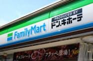 ファミリーマートとPPIHは共同実験店舗を開いている(東京都立川市)