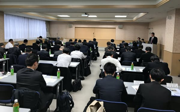 滋賀県は県内の商工会議所などと共同で事業承継の推進に取り組んでいる(滋賀県事業承継ネットワークの成果報告会)