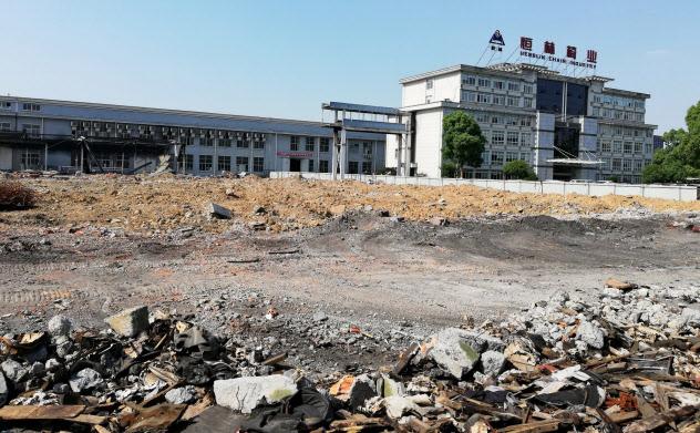 家具製造の恒林椅業は製造ラインを一部撤去した(浙江省安吉県)