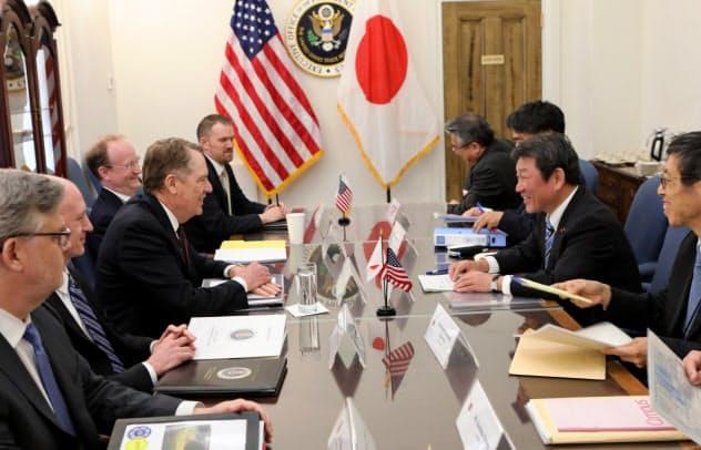 日米交渉初会合1日目の協議(19年4月15日、ワシントン)