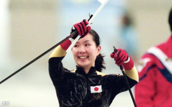 長野パラリンピックでは3つの金メダルを獲得した(1998年3月)=共同