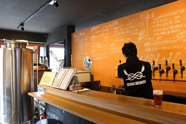 菊池さんはニコンを退職後、クラフトビールを醸造する氷川ブリュワリー起業(さいたま市)
