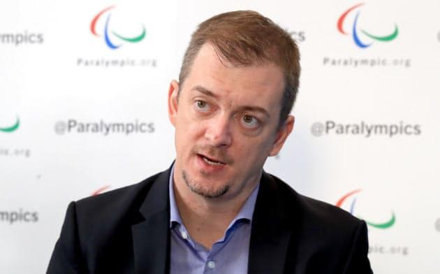 国際パラリンピック委員会のアンドルー・パーソンズ会長