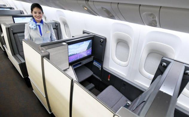 ANA初のドア付き個室型シートを採用した国際線のビジネスクラスシート