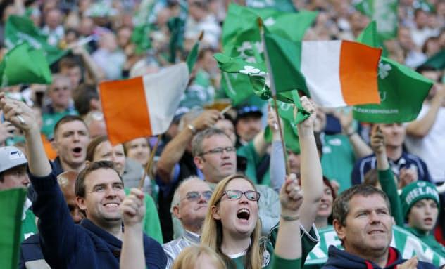 ラグビーW杯には世界中からファンが集まる(2015年9月、英ロンドン)=AP