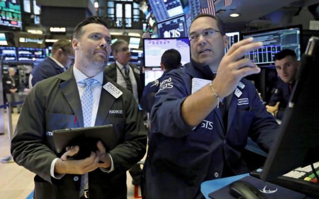 NYダウは3営業日連続で上昇(ニューヨーク証券取引所)=AP