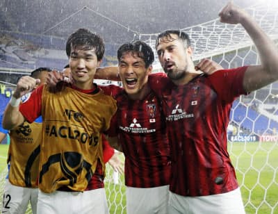 浦和は蔚山に勝利しACLで8強入り。2年ぶりの優勝を目指す=共同