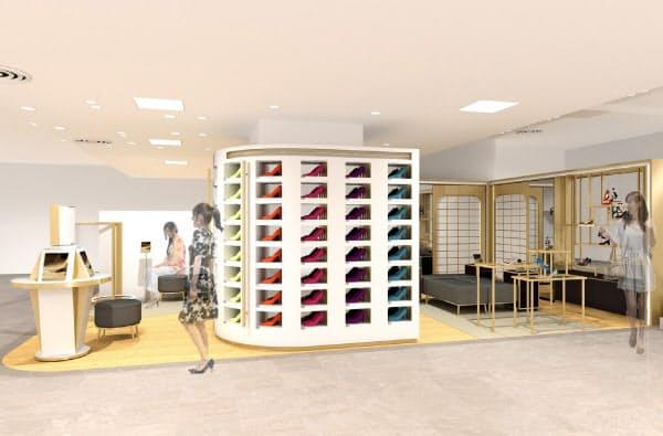 計測結果を元に個人に合った靴を薦める(売り場のイメージ)