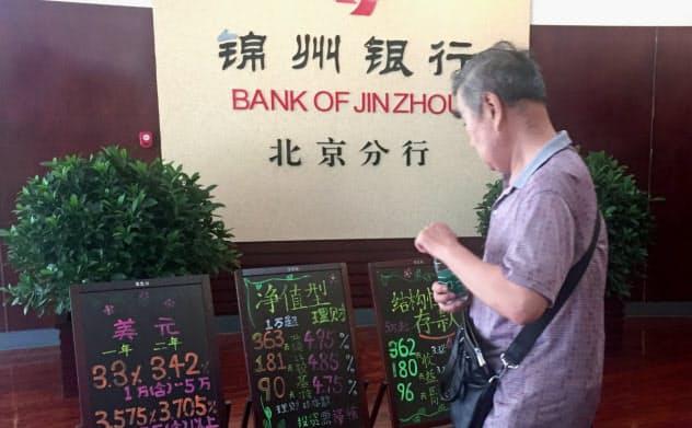 錦州銀行は預金金利の高さで有名だった(北京市内の店舗)