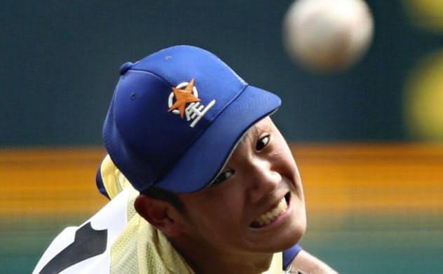 中京学院大中京戦で7回2安打無失点と好投した星稜・奥川=共同