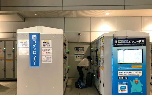 大阪駅のコインロッカーは平均1日1回以上は使われる