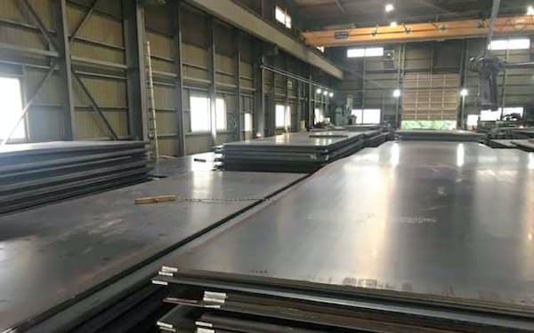厚鋼板などの国内鋼材価格も下落した