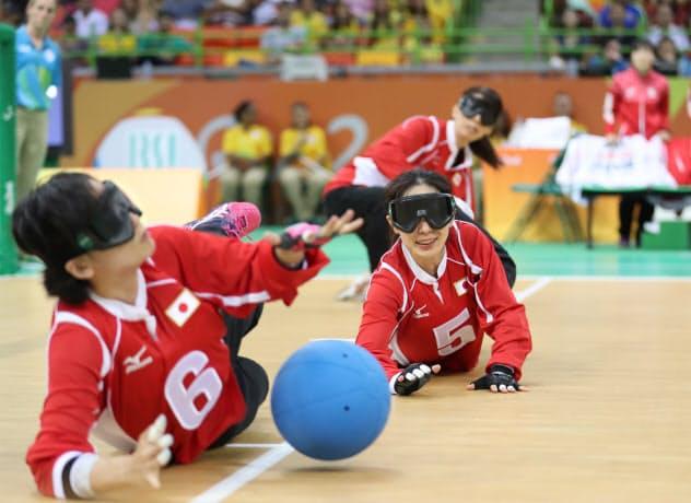 リオパラリンピックで米国と対戦したゴールボール女子日本代表(2016年9月)