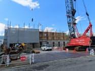 共立メンテナンスが建設中のラビスタ草津ヒルズ(8日、群馬県草津町)