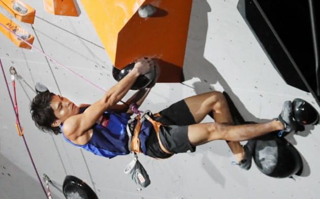 クライミング楢崎智、金で五輪代表 世界選手権複合で初V