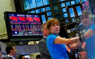小売り決算の好調で投資家に安心感が広がっている(ニューヨーク証券取引所)=ロイター