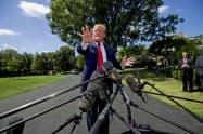 トランプ大統領はデンマーク首相を非難した(写真はAP)