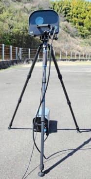 埼玉県警が運用する移動式自動速度違反取り締まり装置=同県警提供