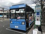 沼津市は18年に沼津駅と沼津港を結ぶ電動バスの試験運行をした