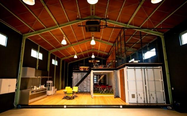 スタートアップ企業の交流拠点は、リンクウィズの旧オフィスを活用した。