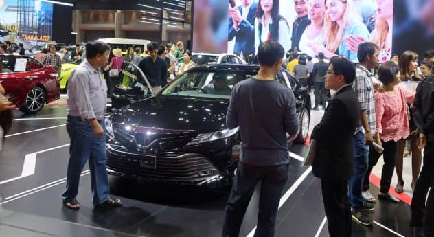 タイの国内市場は減速が鮮明になっている(3月、バンコク国際モーターショー)