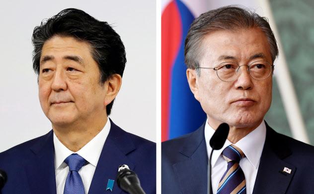 安倍首相と韓国の文在寅大統領