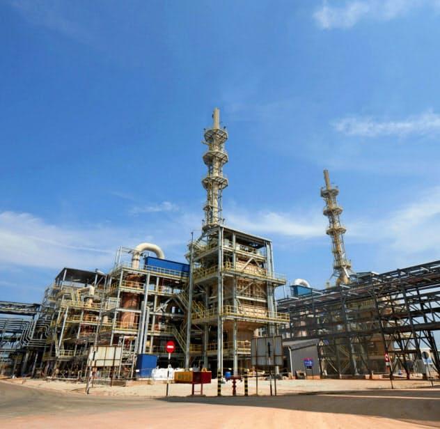 マレーシアにあるライナスのレアアース工場=同社提供