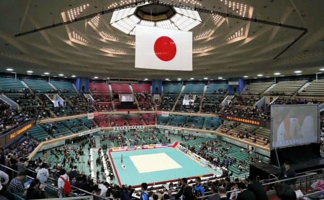 柔道の世界選手権が初めて開催される日本武道館(東京都千代田区)=共同