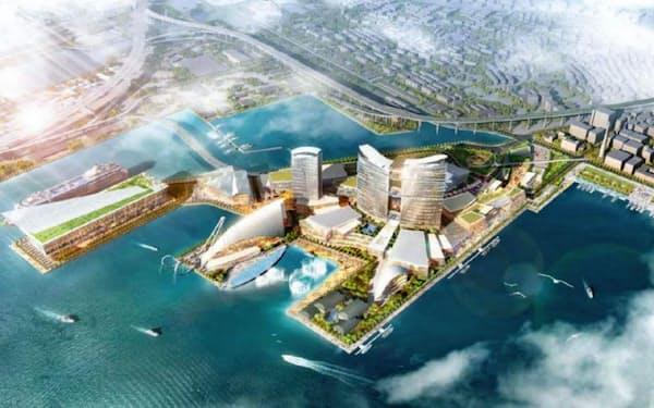 横浜市はIR開業による経済効果などを期待(事業者が提案するイメージ)