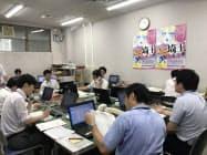 埼玉県選挙管理委員会は投開票の速報リハーサルに取り組んだ(23日、埼玉県庁)