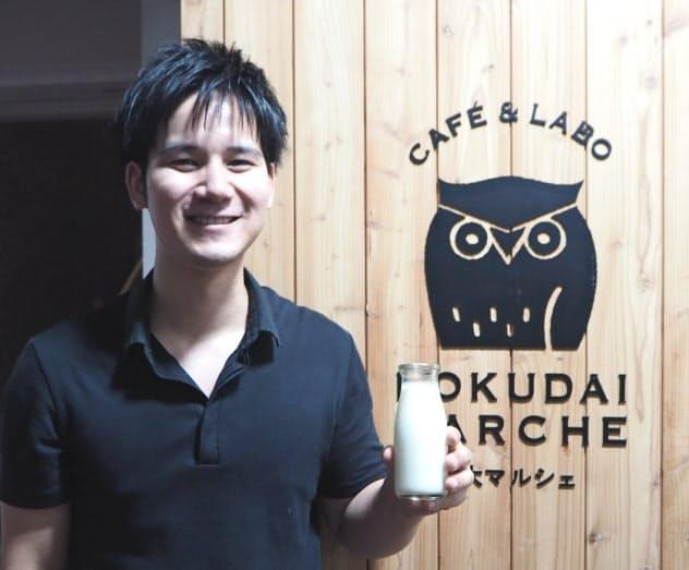 北大マルシェの宮脇店長は「札幌のど真ん中でおいしい牛乳がつくれるという価値を残したい」と意気込む