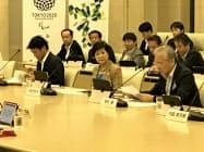 有識者が入った検討会で披露した(23日、東京都庁)