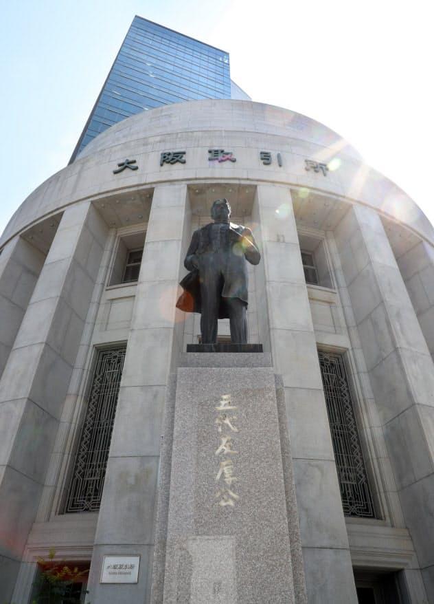 大阪取引所がある大阪・北浜には老舗の証券会社が本社を構える