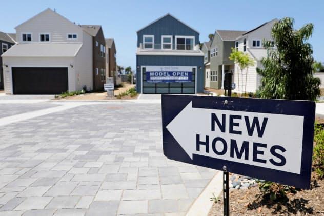 7月の新築住宅販売は前月比で減少した(7月、カリフォルニア州)=ロイター