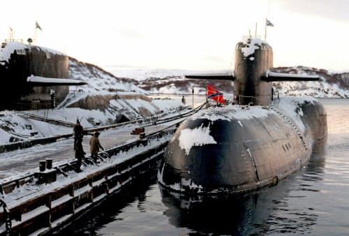 ロシアの原子力潜水艦=AP