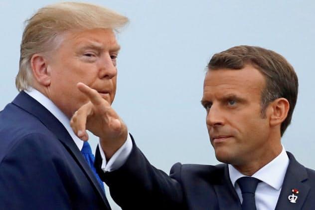 マクロン仏大統領(右)はG7の改革も進めようとしている=ロイター