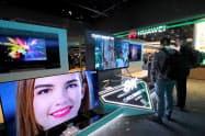 四川長虹電器はテレビの価格競争激化に苦しんでいる(1月、米ラスベガス)=ロイター