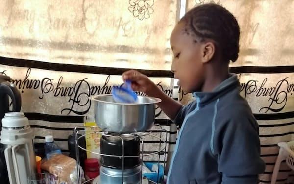 トヨトミがケニアで販売している調理用石油コンロ