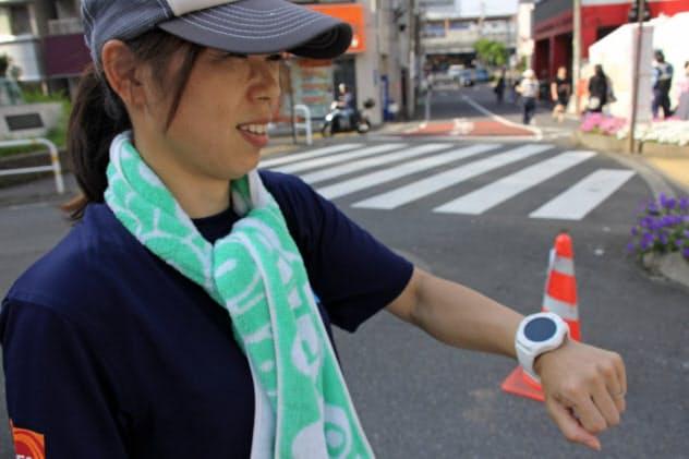 気温・湿度に加え、体調から個人の熱中症リスクを判定(東京・品川)