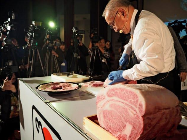 海外でも和牛の認知度は高まっている(台湾で開かれたイベント)