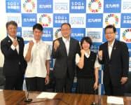 北九州高専の生徒と地元中小企業のマッチングを産学官金の連携で進める(27日、北九州市役所)