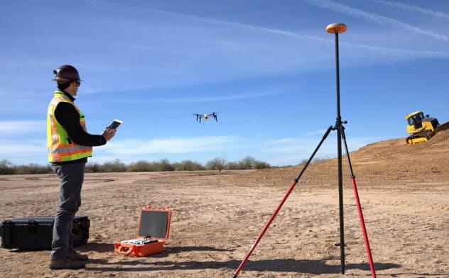 ドローンが鉱山などで測量に使われている